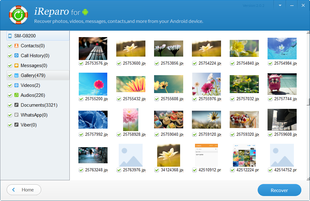 iReparo Android Data Recovery Screenshot 5