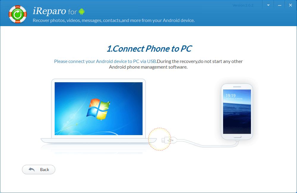 iReparo Android Data Recovery Screenshot 3