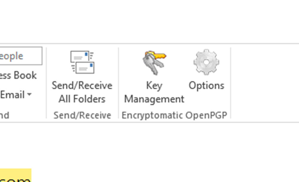 Encryptomatic OpenPGP for MS Outlook Screenshot 2