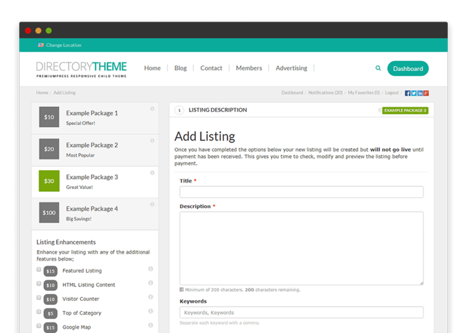 Responsive Directory Theme Screenshot 4