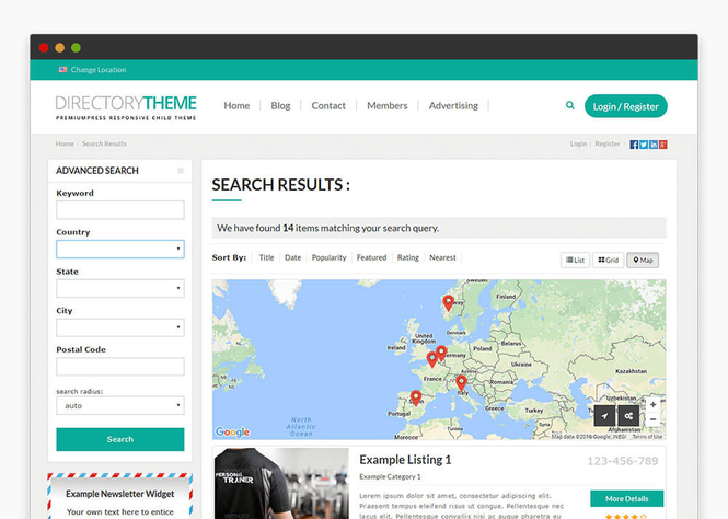 Responsive Directory Theme Screenshot 3