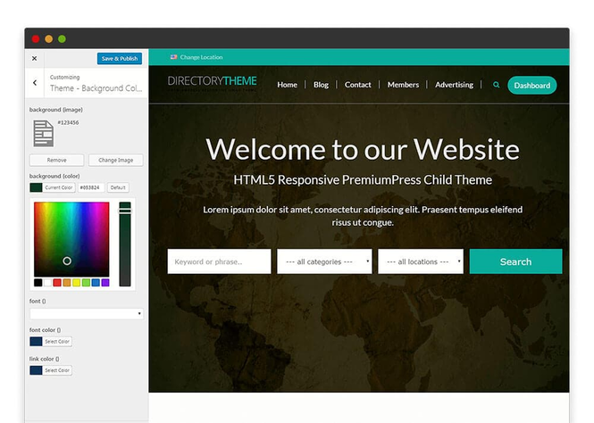 Responsive Directory Theme Screenshot 2