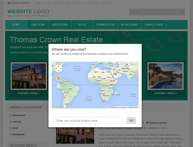 Responsive Real Estate Theme Screenshot 4