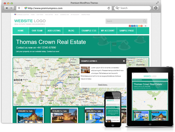 Responsive Real Estate Theme Screenshot 5