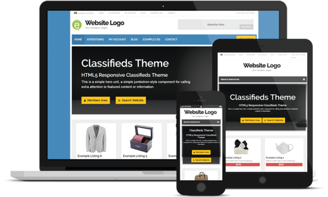Responsive Classifieds Theme Screenshot 4