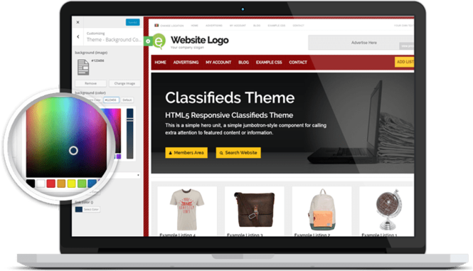 Responsive Classifieds Theme Screenshot 3