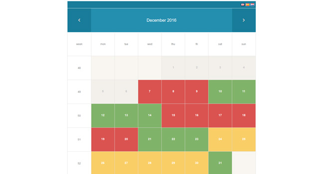 Rental Property Booking Calendar Screenshot 1