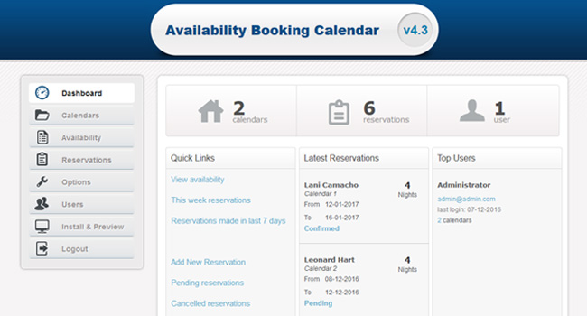 Rental Property Booking Calendar Screenshot 6