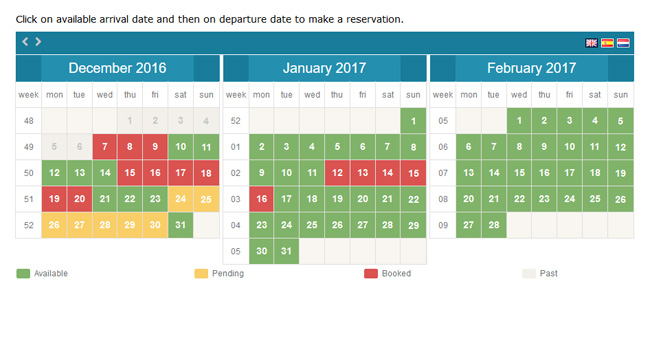 Rental Property Booking Calendar Screenshot 2