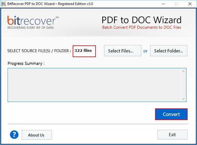 PDF to DOC Wizard Screenshot 2