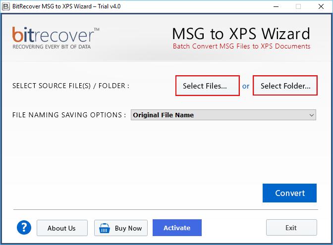 MSG to XPS Wizard Screenshot 4