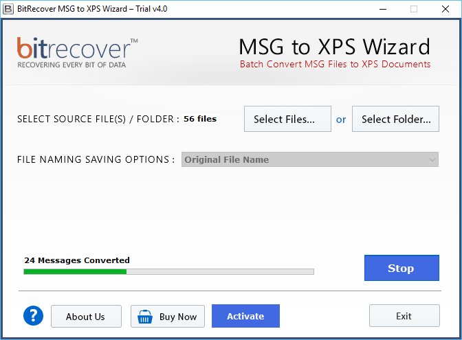 MSG to XPS Wizard Screenshot 3