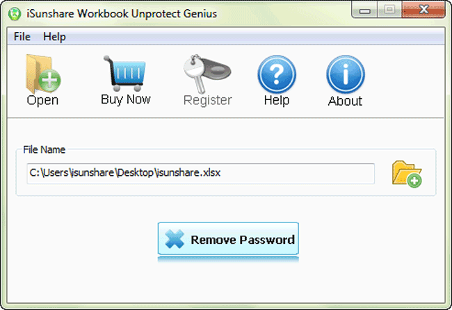 iSunshare Workbook Unprotect Genius Screenshot 3