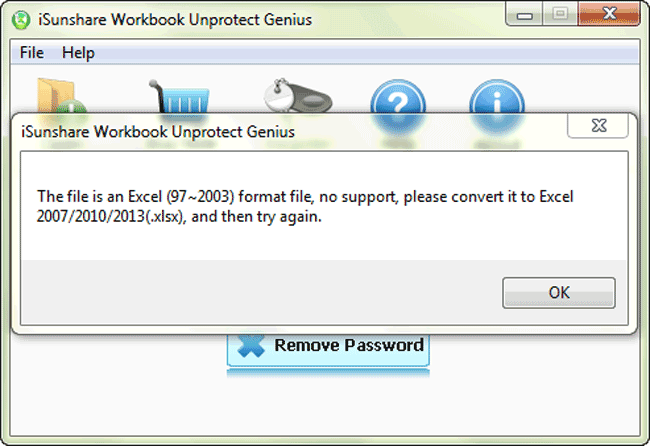 iSunshare Workbook Unprotect Genius Screenshot 2