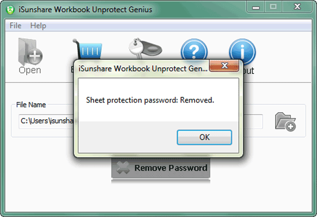 iSunshare Workbook Unprotect Genius Screenshot 7