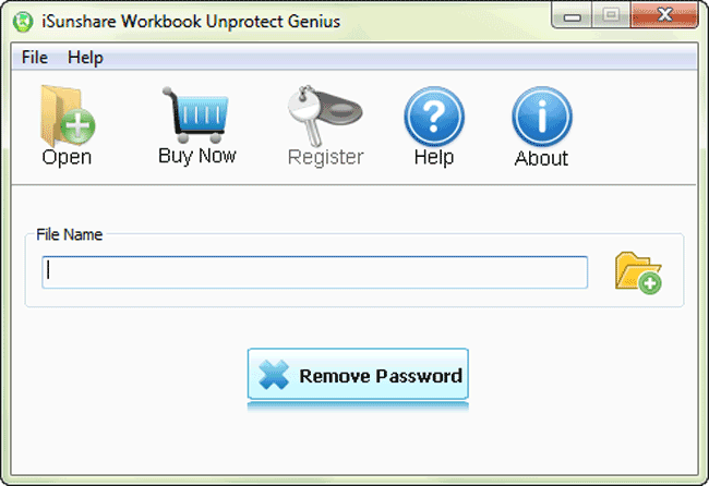 iSunshare Workbook Unprotect Genius Screenshot 1