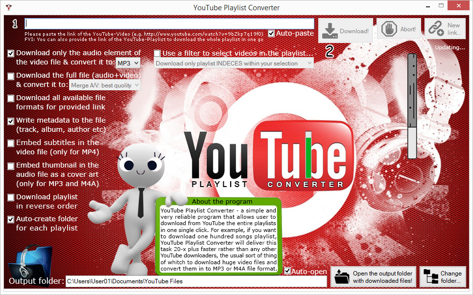 YT Playlist Converter Screenshot 1