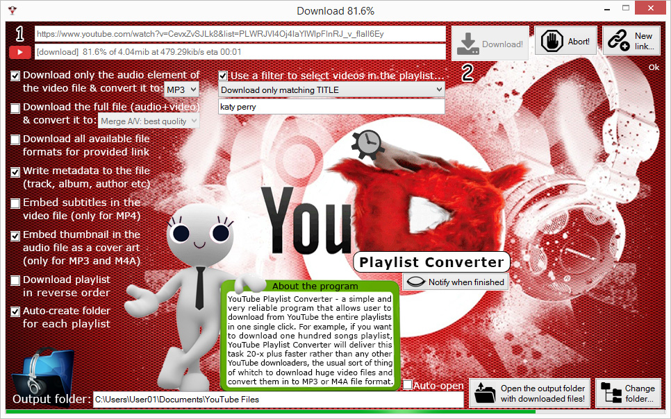 YT Playlist Converter Screenshot 2