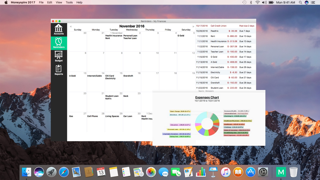 Moneyspire for Mac Screenshot