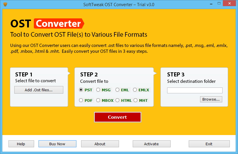 SoftTweak OST Converter Screenshot