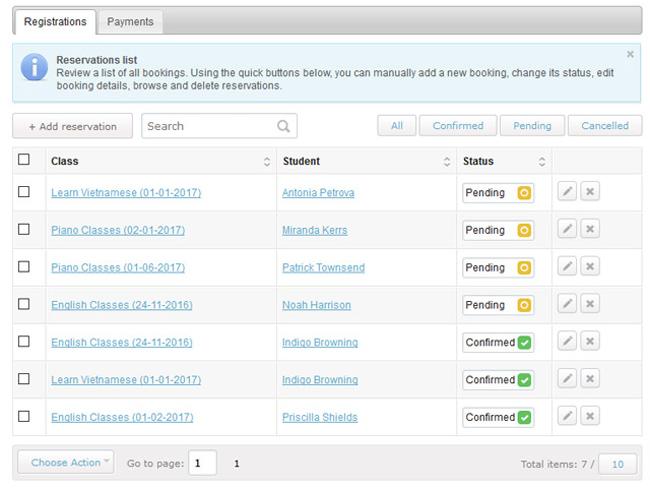 Class Scheduling System Screenshot 8