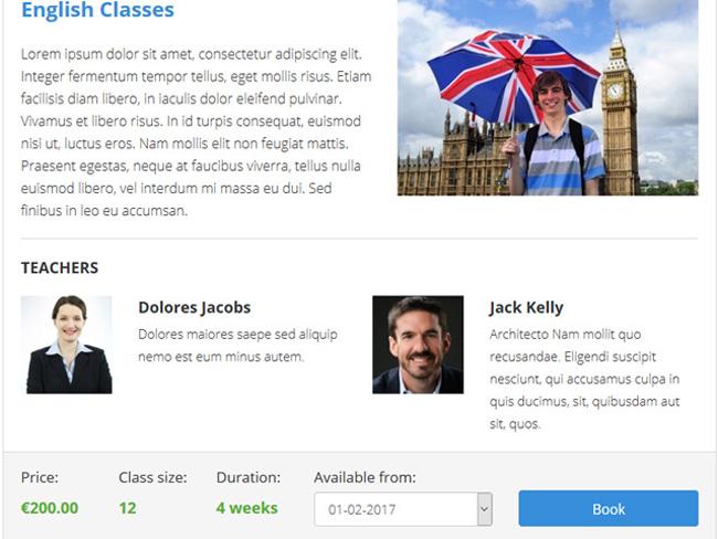 Class Scheduling System Screenshot 2