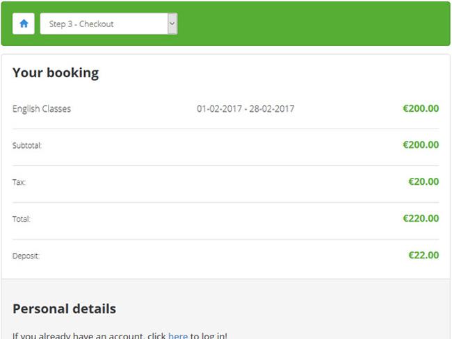 Class Scheduling System Screenshot 3