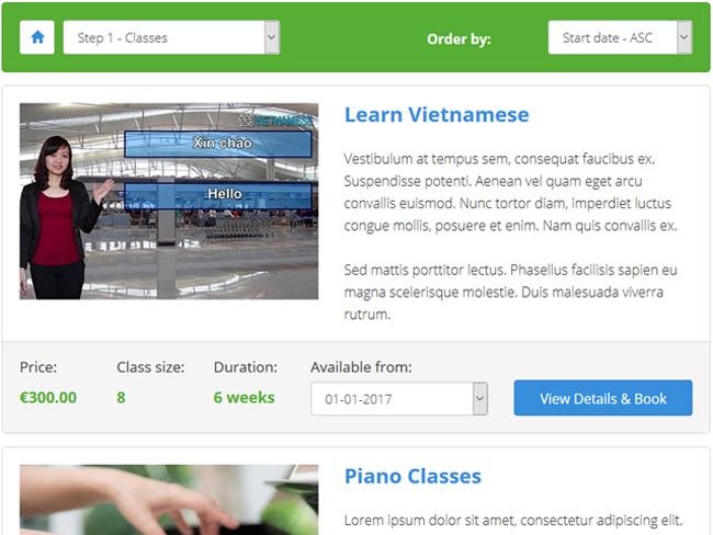 Class Scheduling System Screenshot 9
