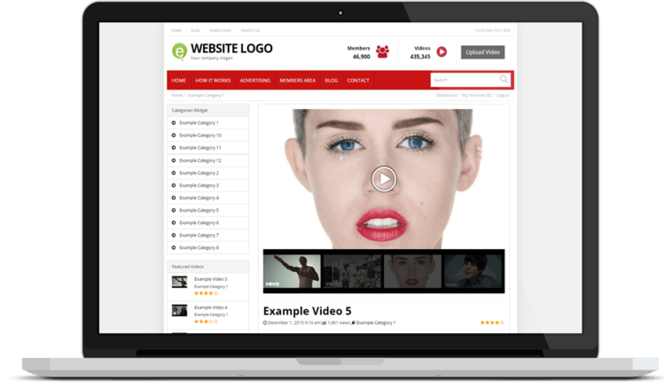 Responsive Video Theme Screenshot