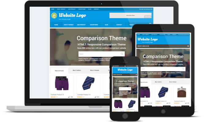 Responsive Price Comparison Theme Screenshot 4