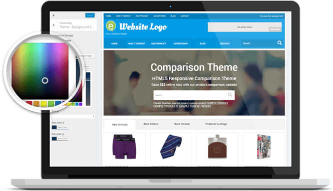 Responsive Price Comparison Theme Screenshot 3