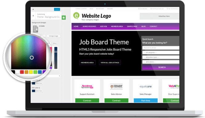 Responsive Job Board Theme Screenshot 3