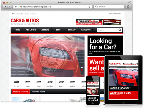 Responsive Car Dealer Theme Screenshot