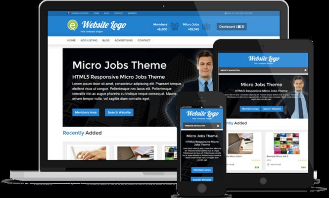 Responsive Micro Jobs Theme Screenshot 4