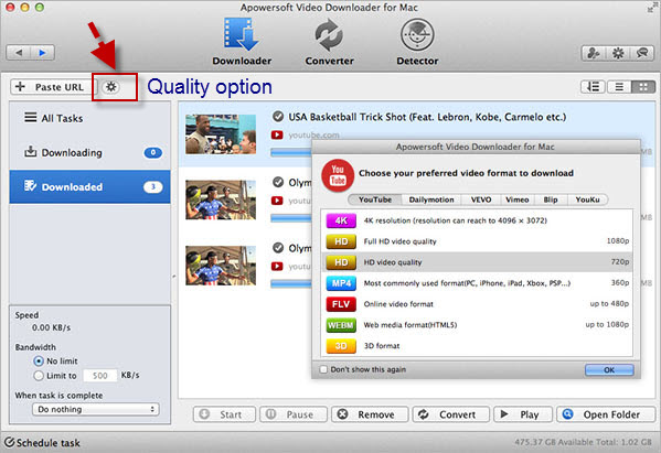 Apowersoft Video Downloader for Mac Screenshot