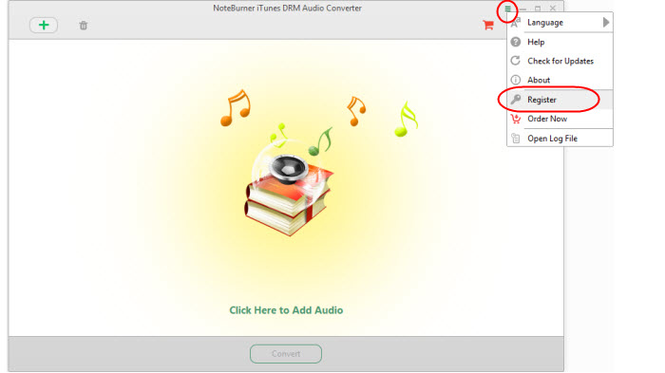 NoteBurner iTunes DRM Audio Converter Screenshot