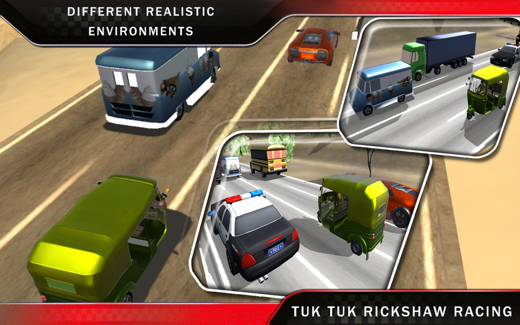Tuk Tuk Auto Rickshaw Racing Screenshot 2