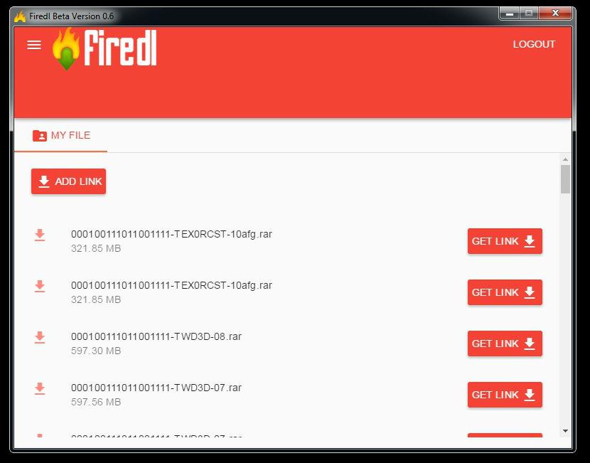 firedl v0.6 Screenshot 2