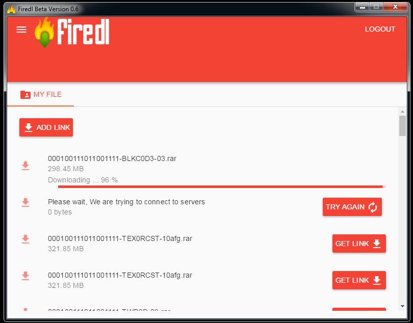 firedl v0.6 Screenshot 3