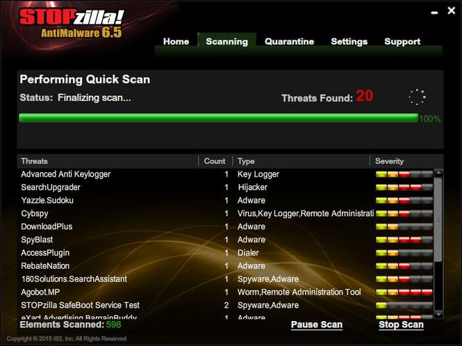 STOPzilla AntiMalware Screenshot 6