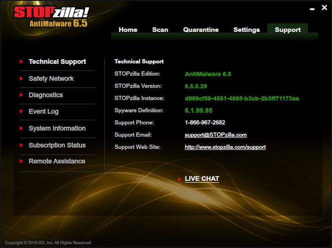 STOPzilla AntiMalware Screenshot 2