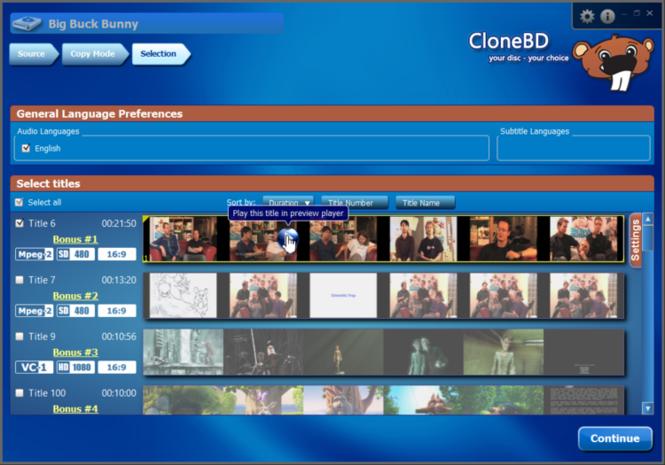CloneBD Screenshot 1