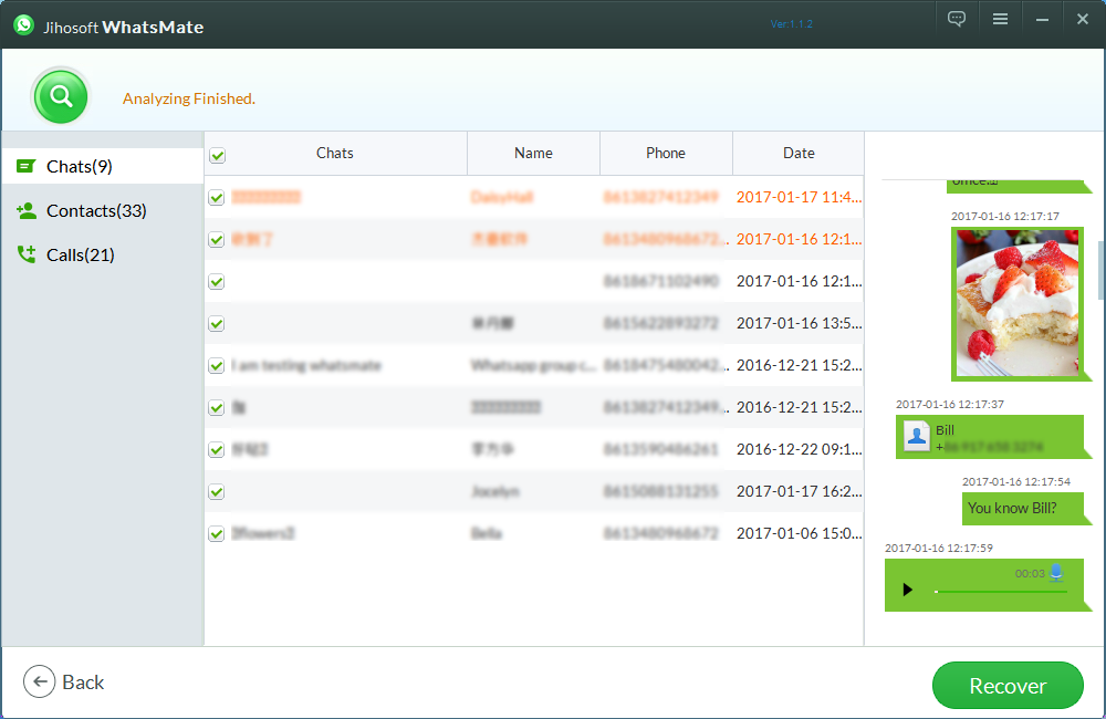 Jihosoft WhatsMate Screenshot 4