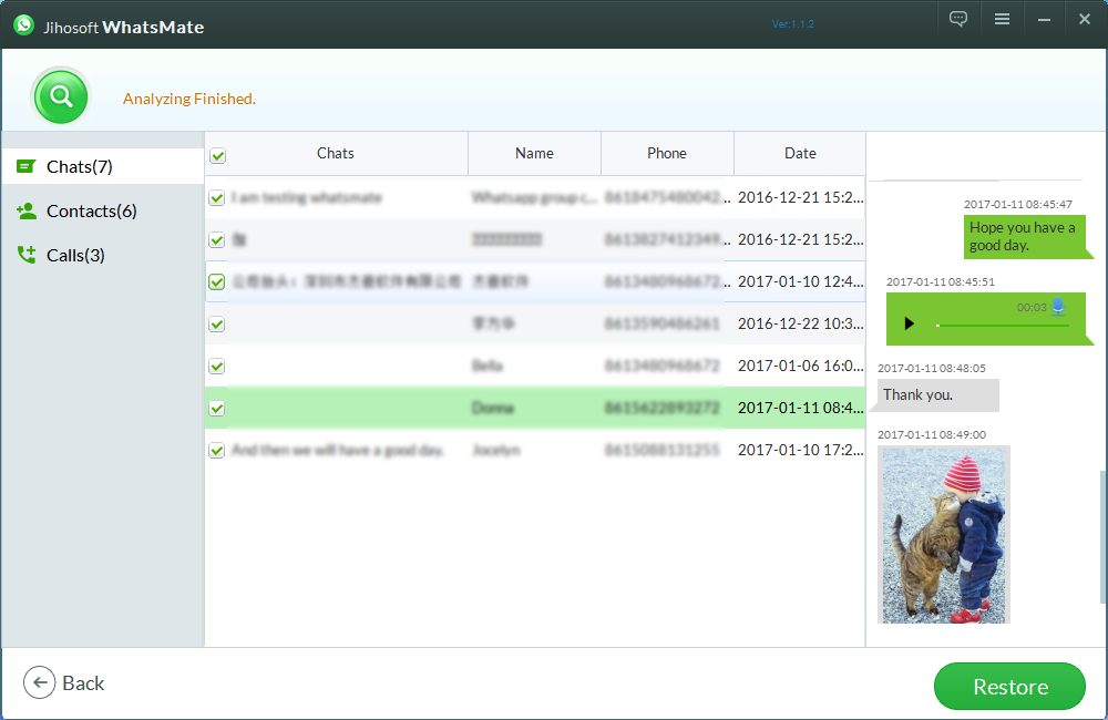 Jihosoft WhatsMate Screenshot 2