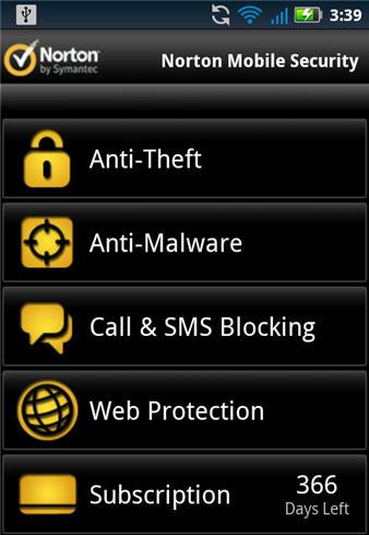 Norton Mobile Security Screenshot 2