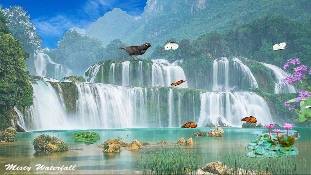 Misty Waterfall Screenshot 1