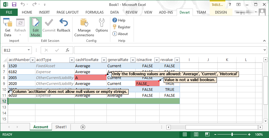 Excel Add-in for NetSuite Screenshot