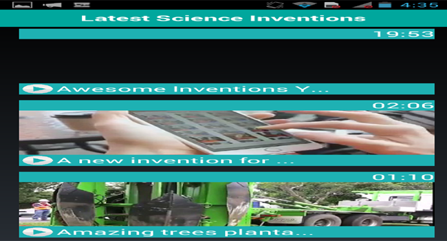 Latest Science Inventions Screenshot