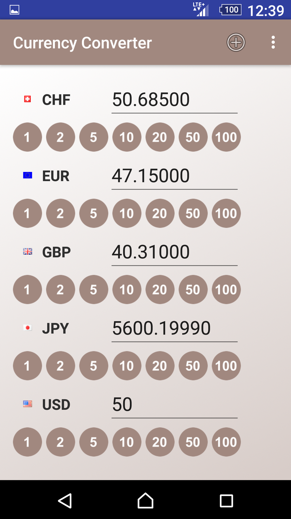 Currency Converter App Screenshot 2