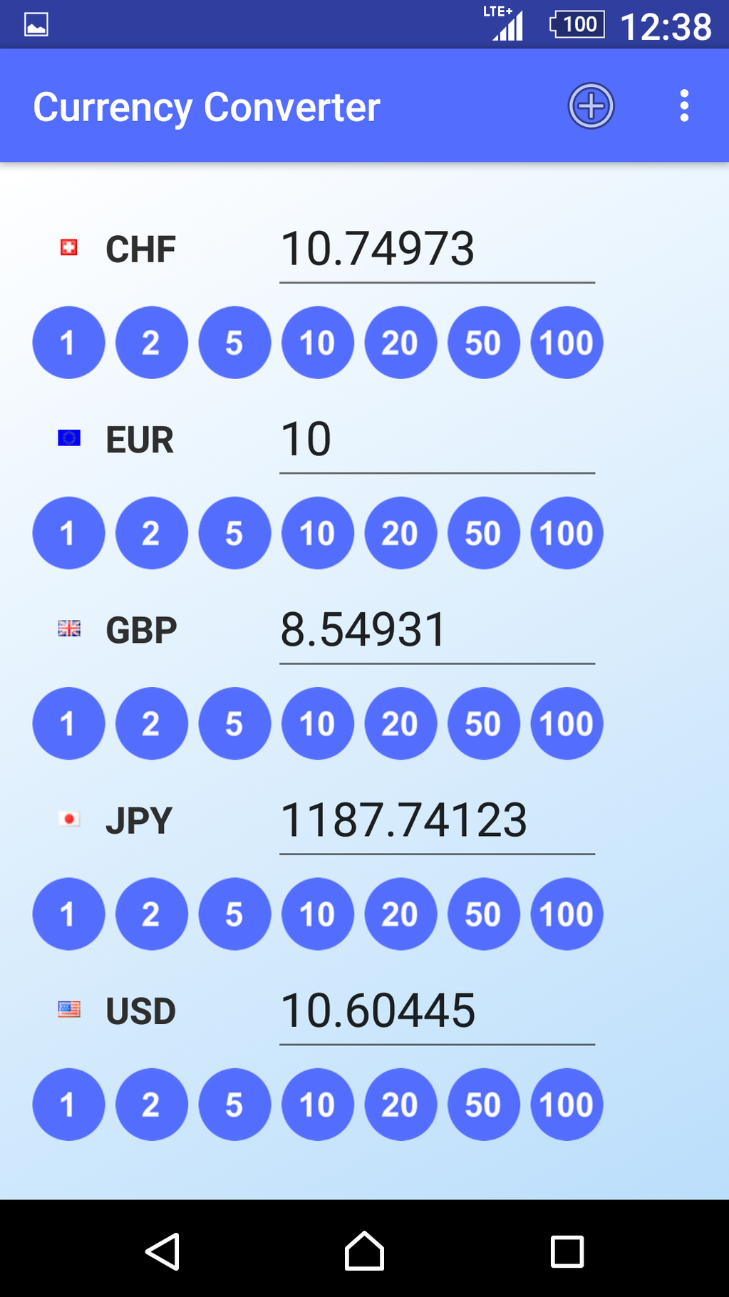 Currency Converter App Screenshot 1